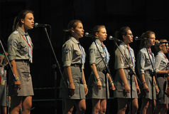 The 42th International Scout Festival of School Youth. Stock Photo