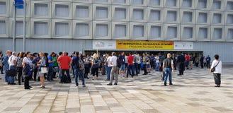 59th internationella matematiska olympiad - Cluj Napoca 2018 Royaltyfri Fotografi