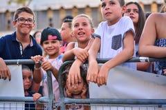 4th inverkan för tidigare X-faktor konkurrenter i Gibraltar Arkivfoto