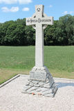 16th Irish Division Memorial Cross, Wytschaete, near Ypres in Belgium Royalty Free Stock Photography