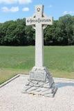 16th Irländskt uppdelningsminnesmärkekors, Wytschaete, nära Ypres i Belgien Royaltyfri Fotografi