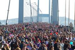 35th Istanbul Eurasia Marathon Stock Photos