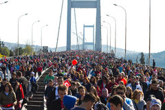 35th Istanbul Eurasia Marathon Royalty Free Stock Photography