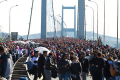 35th Istanbul Eurasia Marathon Royalty Free Stock Images