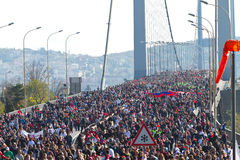 35th Istanbul Eurasia Marathon Stock Photography