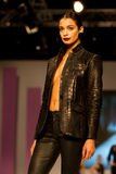 8th Istanbul Leather Fair runway Stock Image