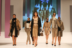 8th Istanbul Leather Fair runway Stock Photo