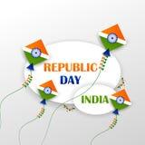 26th Januari, lycklig republikdag av Indien vektor illustrationer