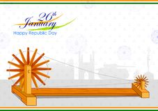 26th January, Happy Republic Day of India. In vector background Stock Image