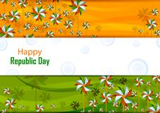 26th January, Happy Republic Day of India. In vector background Royalty Free Stock Photography