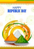 26th January, Happy Republic Day of India. In vector background Stock Photos