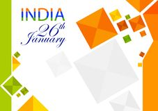 26th January, Happy Republic Day of India. In vector background Stock Images