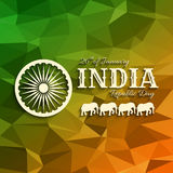 26th of January India Republic Day text on triangular background Stock Photos