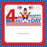 4th Juli, amerikansk självständighetsdagenbakgrund Arkivbilder
