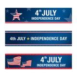 Th juli för självständighetsdagen 4 lycklig självständighet för dag vektor illustrationer