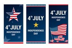 Th juli för självständighetsdagen 4 lycklig självständighet för dag stock illustrationer