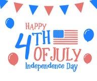 4th Juli, lycklig självständighetsdagen i Amerikas förenta stater, USA Festlig bakgrund för vektorillustrationdesign royaltyfri illustrationer