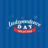 4th juli Lycklig självständighetsdagenvektor Fjärdedel av den Juli hälsningdesignen Royaltyfria Bilder