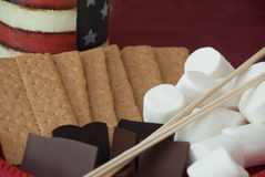 4th Juli S'mores Royaltyfri Bild