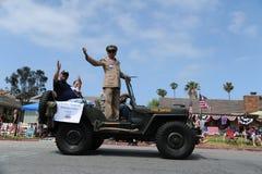 4th Juli ståtar Huntington Beach CA USA Arkivbild
