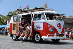 4th Juli ståtar Huntington Beach CA USA Arkivfoton
