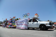 4th Juli ståtar Huntington Beach CA USA Arkivfoto