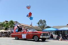 4th Juli ståtar Huntington Beach CA USA Royaltyfri Fotografi