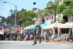 4th Juli ståtar Huntington Beach CA USA Royaltyfri Foto