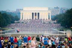 4th juli Washington Dc 2017 Arkivbilder
