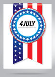 4th Julry. 4th of july independence day background vector illustration