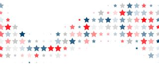 Abstract background of red, blue, white stars. 4th of July. Abstract background of red, blue, white stars in the colors of the United States, the patriotic stars vector illustration
