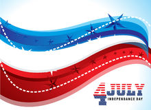 4th of july abstract background. Vector illustration Stock Photos