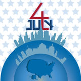 4th July of America. Design of 4th July of America royalty free illustration