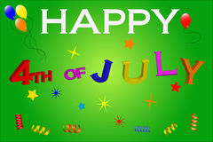 4th of july. American independance day royalty free illustration