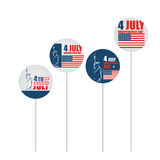 4th of July American independence day Stock Image