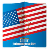 4th of July American independence day. Abstract vector illustration royalty free illustration
