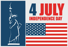 4th of July American independence day. Abstract vector illustration Stock Photography