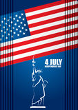 4th of July American independence day. Abstract vector illustration stock illustration