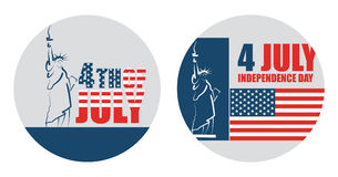 4th of July American independence day. Abstract vector sticker Stock Photos