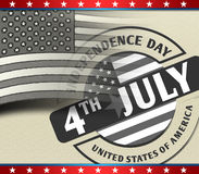 4th July American Independence Day. As concept stock illustration