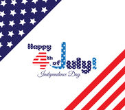 4th of July, American Independence Day background.  Stock Photo