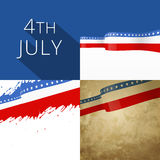 4th of july american independence day background set. Vector 4th of july american independence day background set royalty free illustration