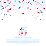 4th of July, American Independence Day background. Vector illustration, eps10. 4th of July, American Independence Day background. Vector illustration Stock Images