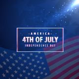 4th of july american independence day background. Vector Stock Images