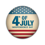 4th of july, American Independence Day badge button. Retro or Vintage Style. Vector illustration Stock Photo