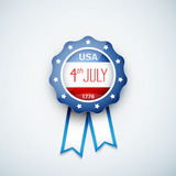 4th of july American independence day badge Royalty Free Stock Photography