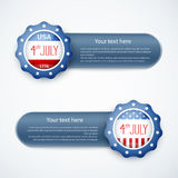 4th of july American independence day badge. Eps10 vector illustration royalty free illustration
