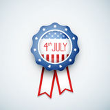 4th of july American independence day badge. Eps10 vector illustration stock illustration