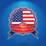 4th of July, American independence day badge . Happy independence Stock Images