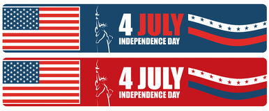 4th of July American independence day banner Royalty Free Stock Photography